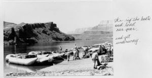 We rig the boats and load our gear and get underway on a Grand Canyon Rafting trip.