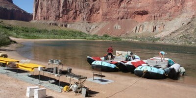 Grand Canyon Rafting in September?  Camps will be beautiful!