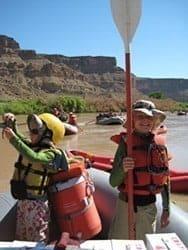 kids rafting Desolation Canyon