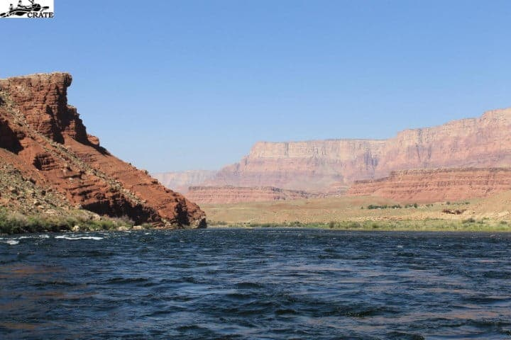 Leaving Lees Ferry on a Grand Canyon Rafting trip