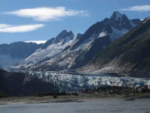 Walker Glacier receding due to global warming
