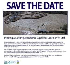 Save the Date Tusher Dam