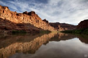 Cataract Canyon peaceful water on the Colorado River