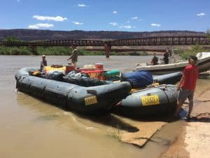 Boats at the Moab Bridge Ramp
