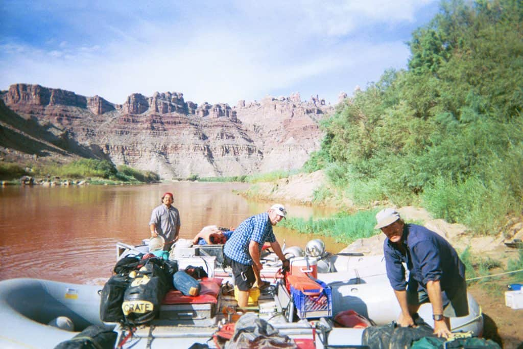 Camped at upper Spanish Bottom on a Cataract Canyon rafting trip
