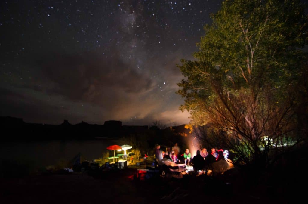 A sky full of stars and a big campfire with Ken Sanders.