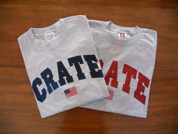 crate flag t-shirts