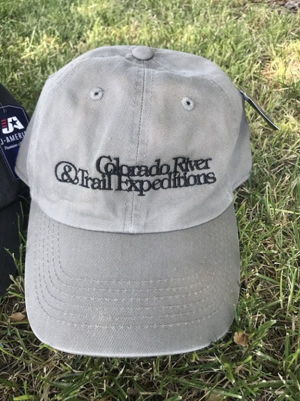 light gray river hat