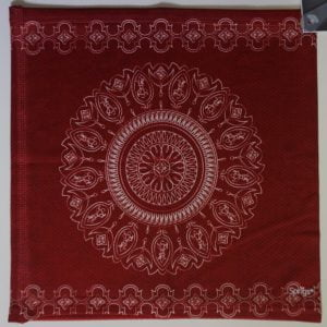 Slink Reversible No-Tie Bandana Batik Burnt Red