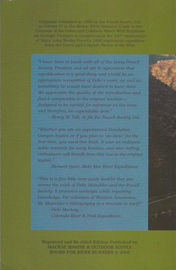 Desolation Canyon book