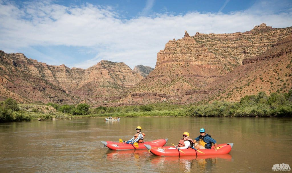 Floating in Desolation Canyon