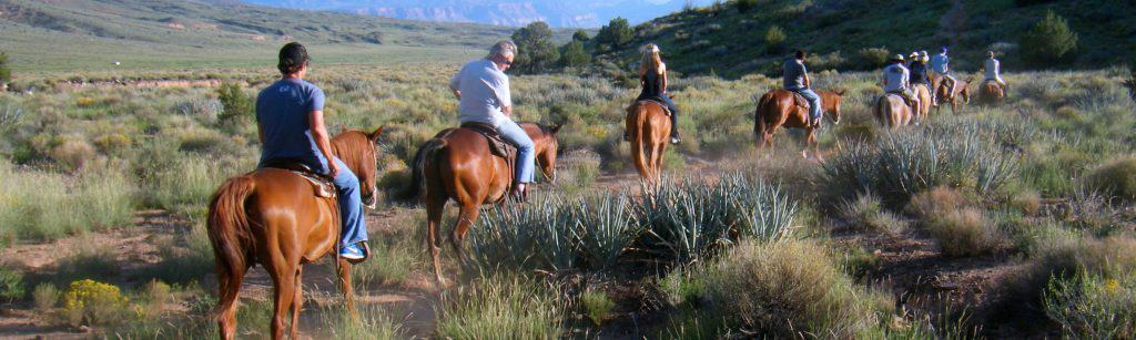 Riding Horses on a Grand Canyon Ranch and Raft trip from Las Vegas.