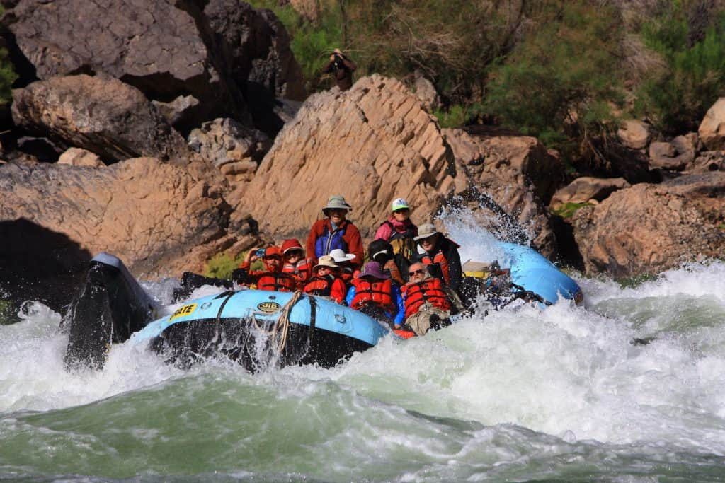 Lava Falls rapid on the Colorado River on a grand canyon rafting trip