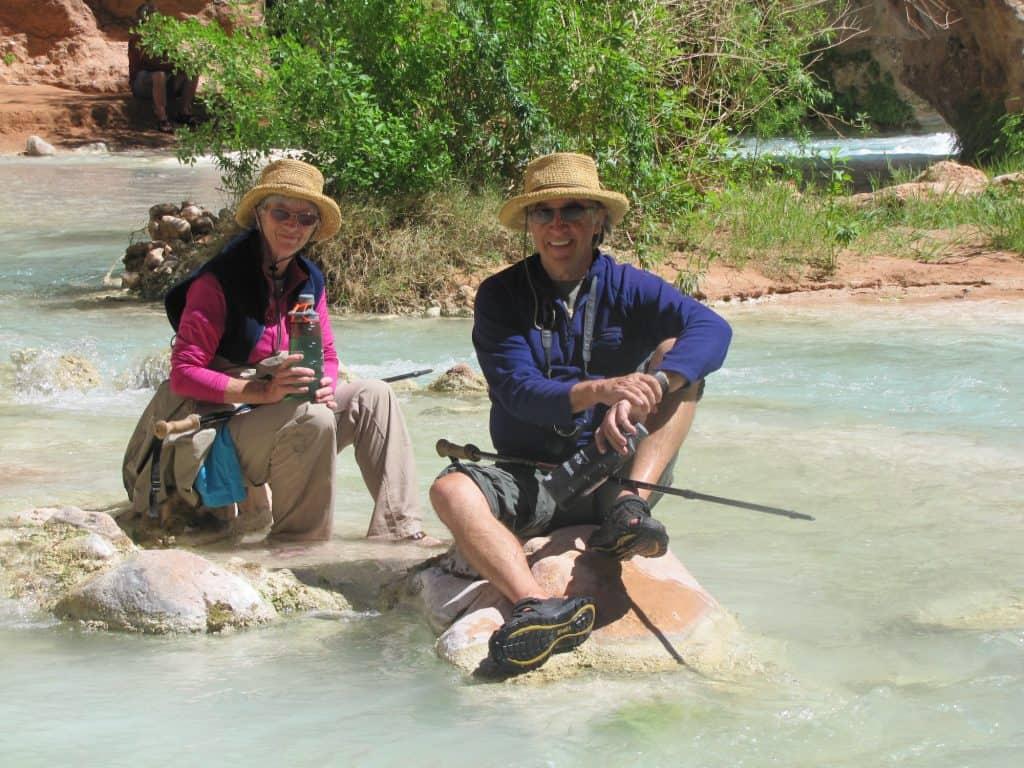 relaxing in the soothing waters of havasu creek
