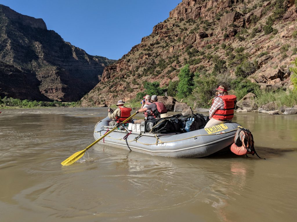 Rowing into Desolation Canyon