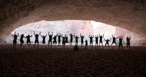 Redwall Cavern Photograph capturing silhouettes.