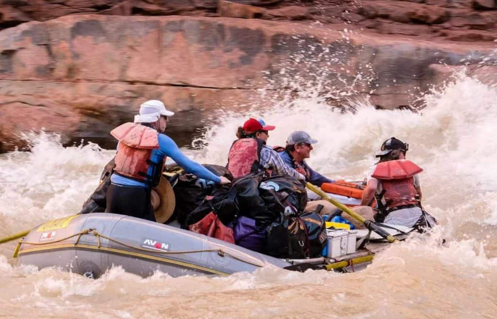 Grand Canyon whitewater rafting in House Rock Rapid