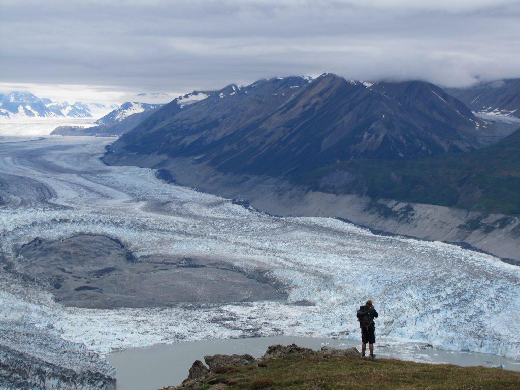Alaska Rafting Hike above Lowell Glacier