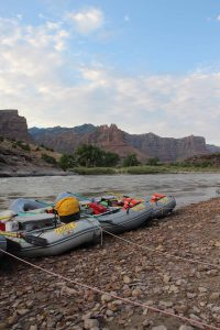Rafts on cobbles desolation canyon