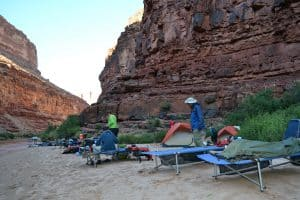 camping along the Colorado River in Grand Canyon