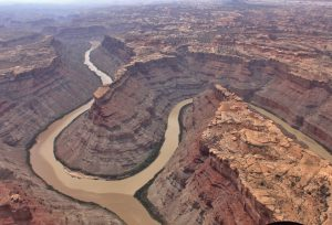 Confluence of the Green and Colorado River from Island in the sky