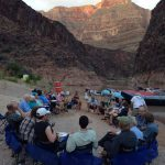 Camp at 243 mile in the Grand Canyon.