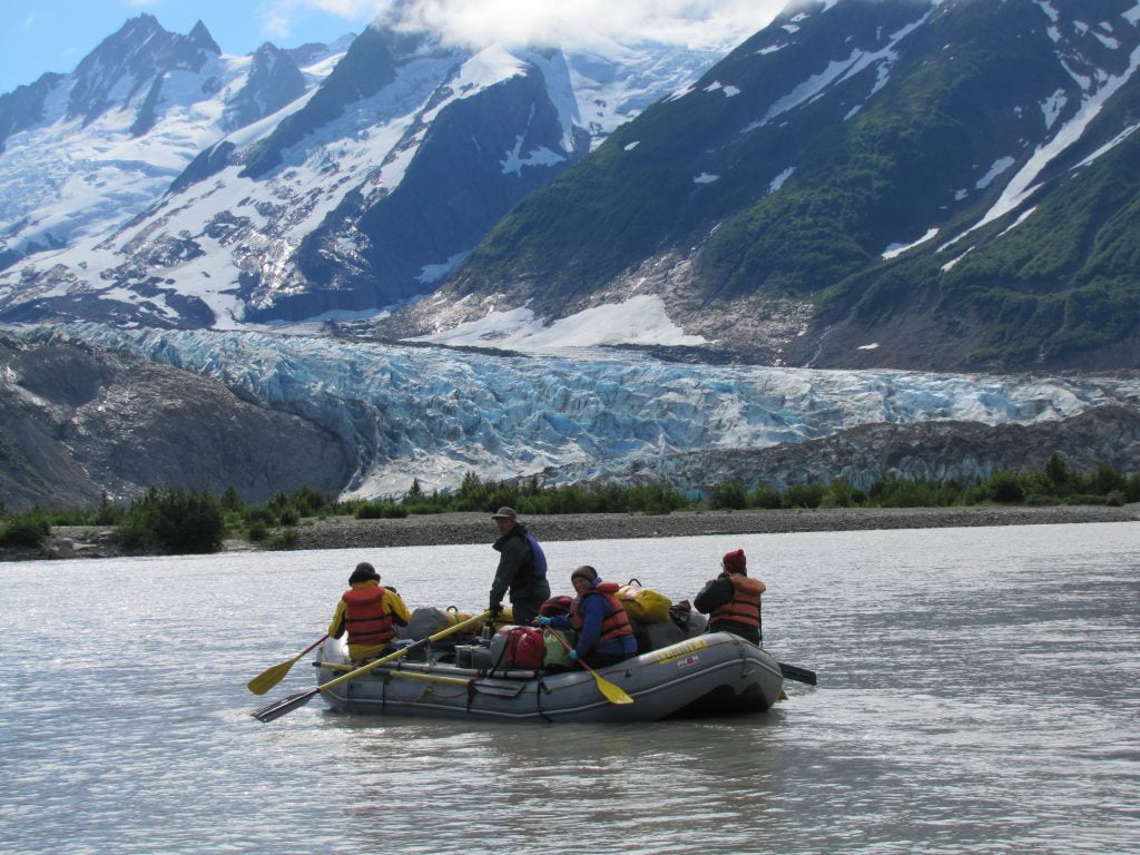 Alaska Rafting on the Alsek River above the Walker Glacier