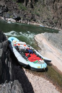 raft at mouth of clear creek