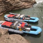 Photograph of Colorado River and Trail Expeditions Rafts.