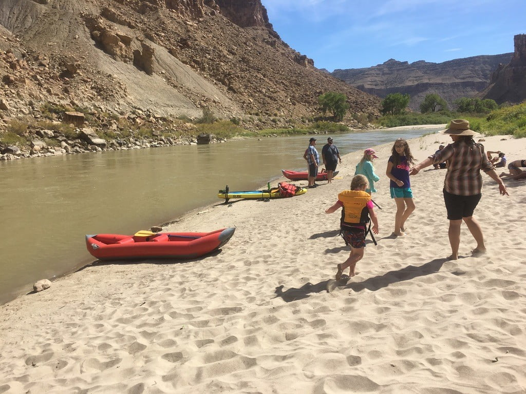 sandy beach on One day green river rafting
