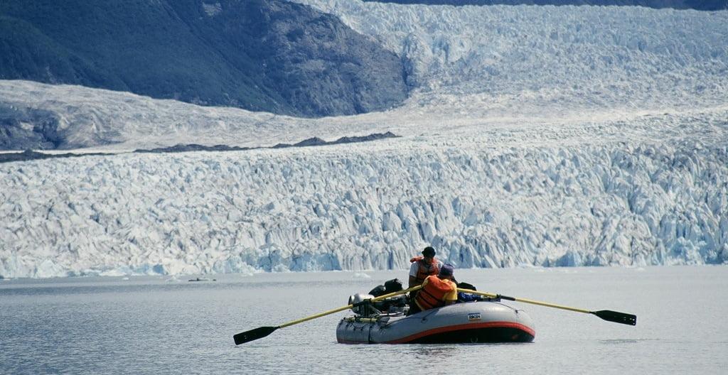 Photo of Alsek Lake and Glaciers.