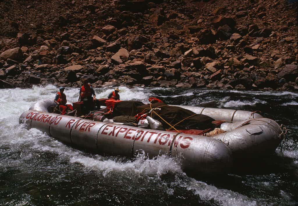 Colorado River and Trail Expedition raft from 1970s