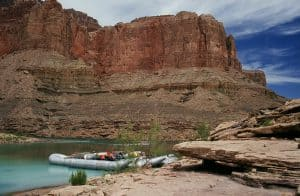 Raft in 1980s at the Little Colorado River.