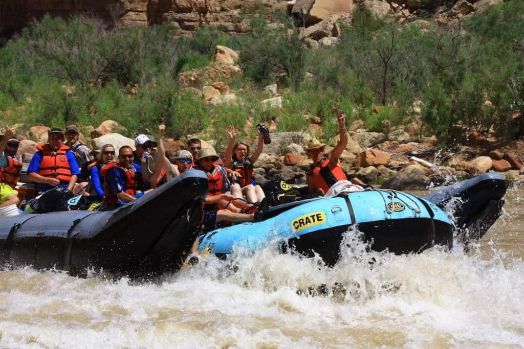 rafting the grand canyon on motorized raft