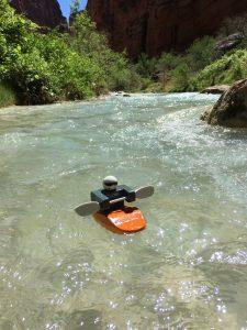 Foamie Friend on Havasu Creek in the Grand Canyon