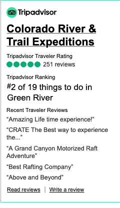 Screenshot 2020 11 19 Widgets for Colorado River amp Trail Expeditions Tripadvisor