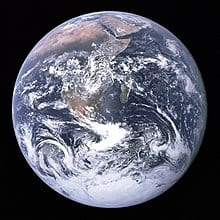 Blue Marble Photograph of Earth