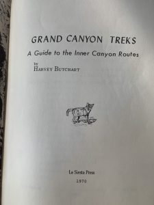 Title Page of Grand Canyon Treks