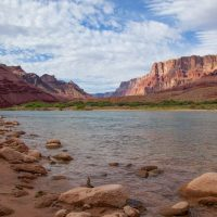 Tanner camp along Colorado River