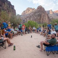 Chair circle happiness at Parashant Camp in Grand Canyon