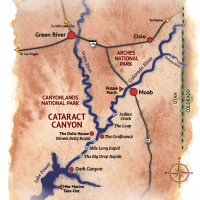 Cataract Canyon Maps for Rafting Trips