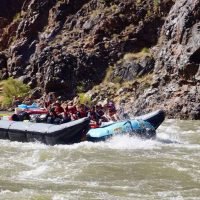235 miles rapid on a grand canyon raft trip.