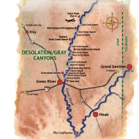 Desolation Canyon rafting Map
