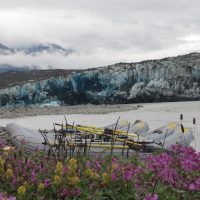 Mindy Mackay's Photograph of the Alsek River at the Turnback Canyon Portage Camp.