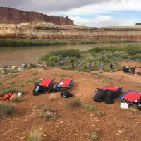 Camping on the Green River in Canyonlands National Park