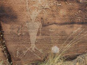 Petroglyph on a Desolation Canyon rafting tour.