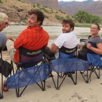 Chilling on camp chairs along the Green River.