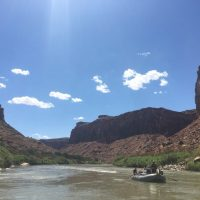 boats floating on Colorado River near Moab