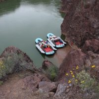 North Bass Trail Head with Rafts